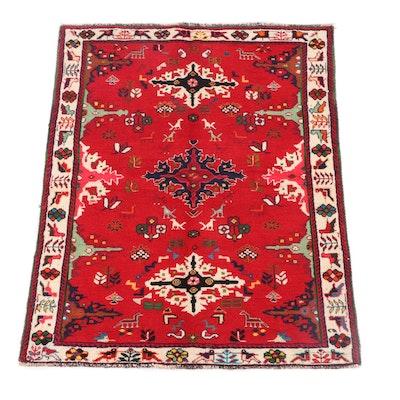 3'10 x 5'2 Hand-Knotted Caucasian Akstafa Wool Rug