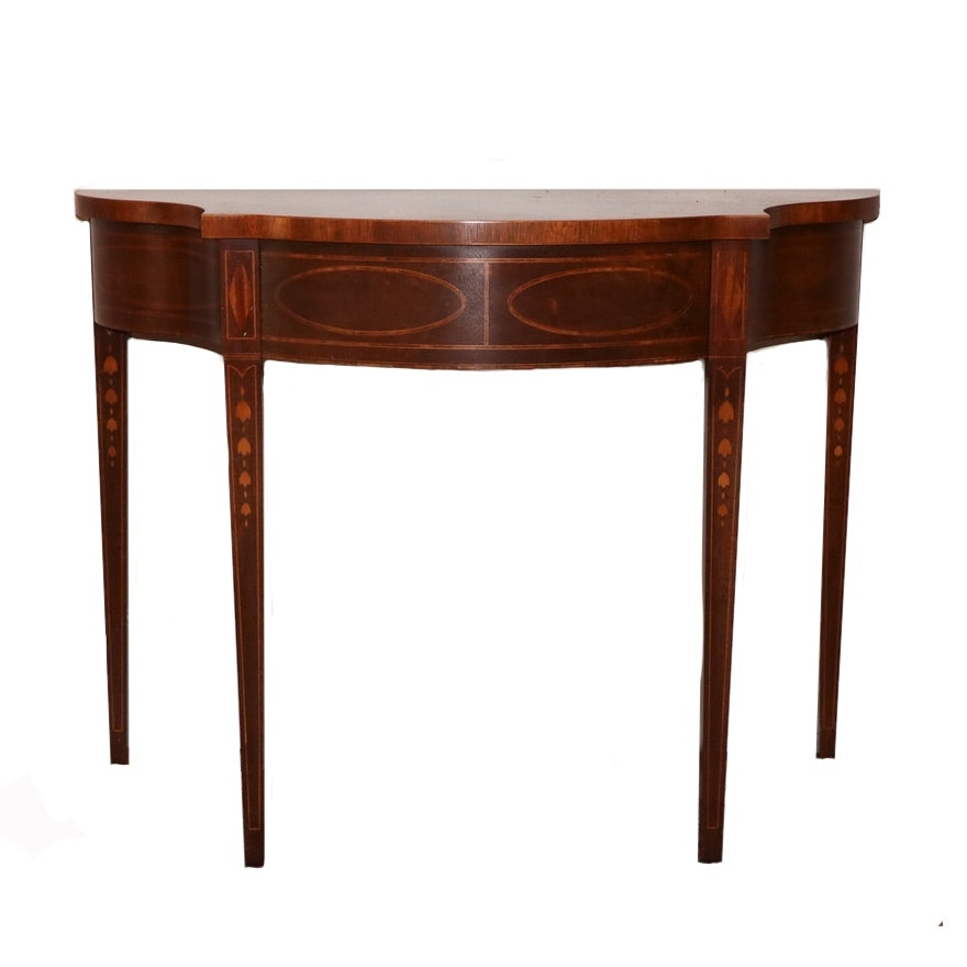 """Baker Furniture """"Historic Charleston Collection"""" Mahogany and Marquetry Table"""