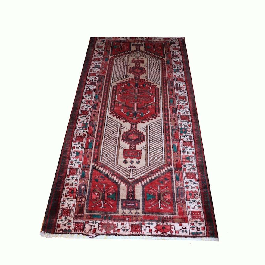 3'5 x 7'1 Hand-Knotted Persian Khamseh Wool Rug