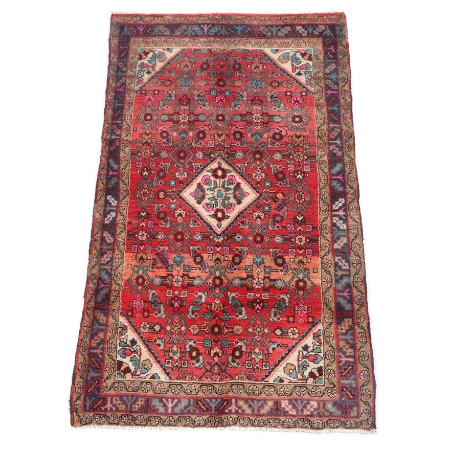 3'8 x 6'8 Hand-Knotted Persian Gogarjin Wool Rug
