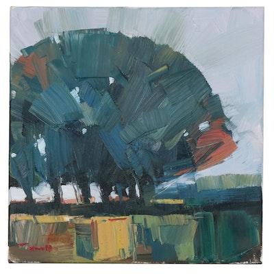 "Jose Trujillo Oil Painting ""Shady Haven"", 2020"