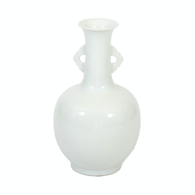 Pale Celadon Glazed Ceramic Vase, 20th Century