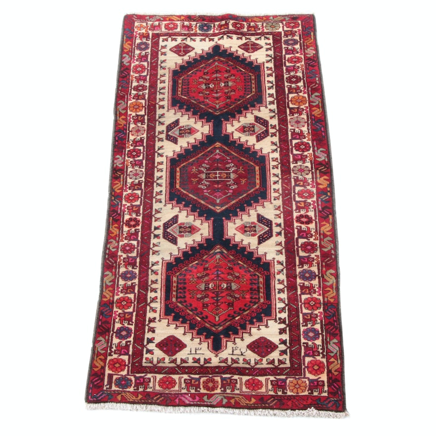 3'5 x 7'6 Hand-Knotted Persian Yalameh Wool Rug