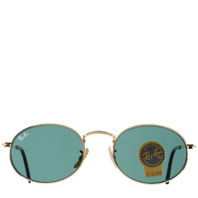 Ray-Ban Oval Flat Lenses Gold Tone Sunglasses RB03-072020