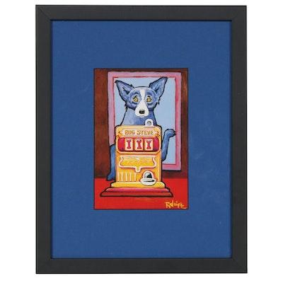 "Offset Lithograph after George Rodrigue for ""Der Blaue Hund"", circa 1992"