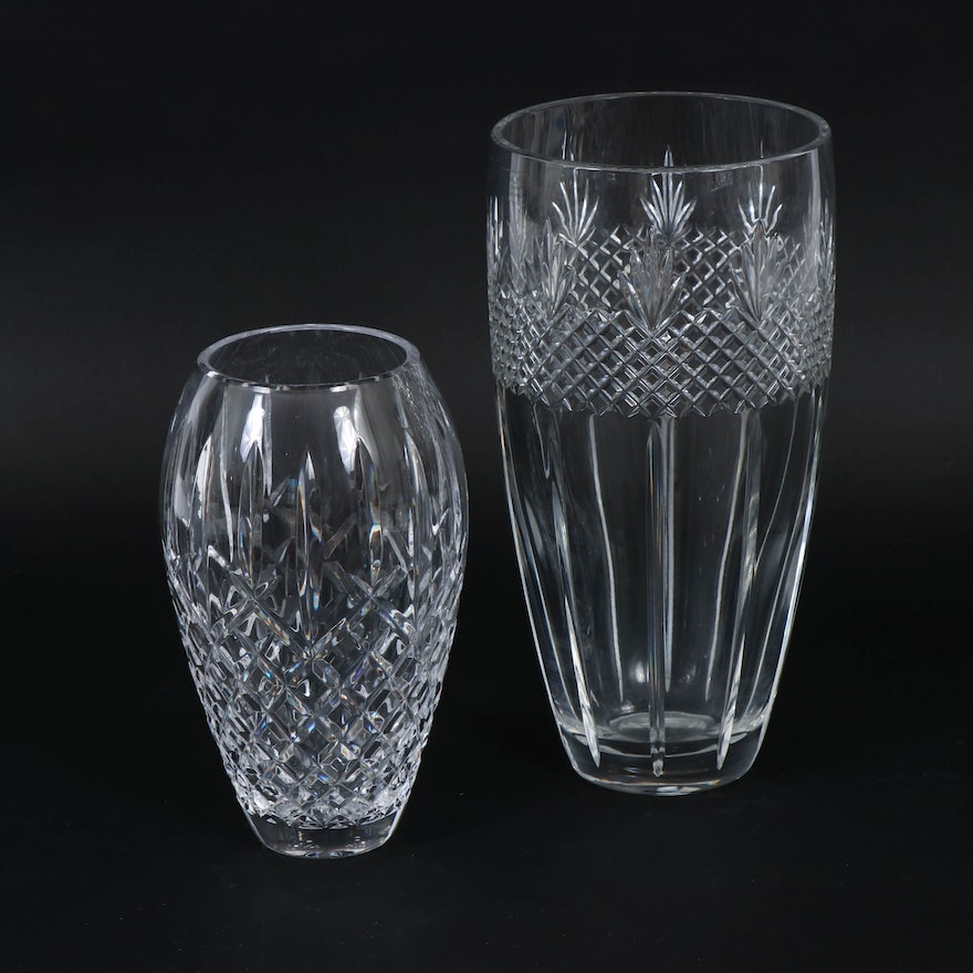 Waterford Crystal and Towle Crystal Flower Vases