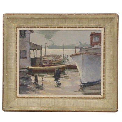 Ken Gore Oil Painting of Rockport Harbor