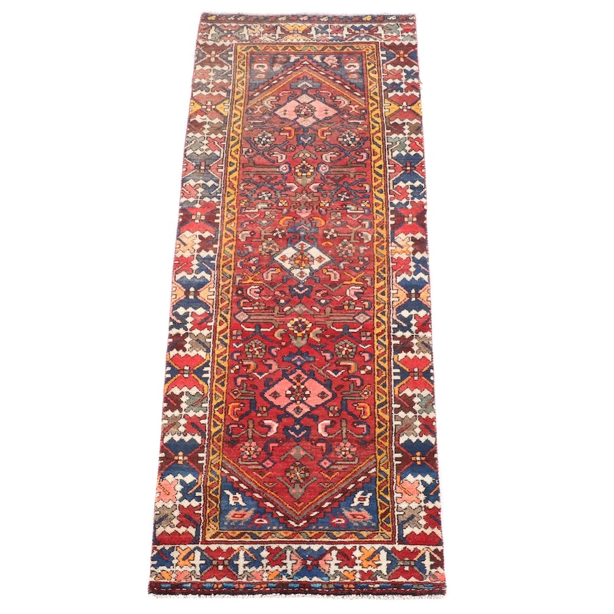 2'9 x 7'7 Hand-Knotted Persian Gogarjin Wool Carpet Runner