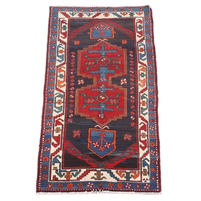 3'4 x 7'0 Hand-Knotted Persian Luri Wool Rug