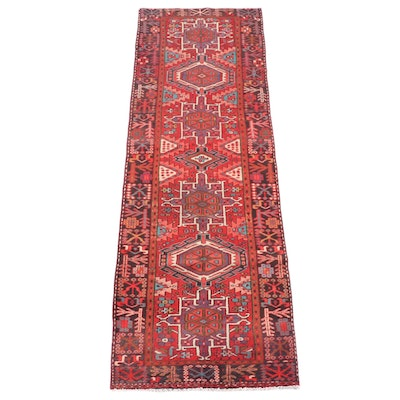 3'6 x 11'2 Hand-Knotted Persian Karaja Wool Long Rug