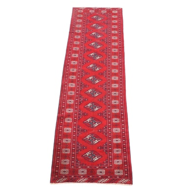 3'5 x 12'7 Hand-Knotted Turkmen Tekke Bokhara Wool Long Rug