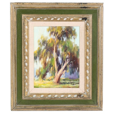 "Louis Heinzman Impressionist Style Oil Painting ""Sunny Eucalyptus"""