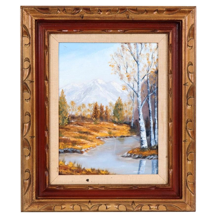 Landscape Oil Painting, 20th Century