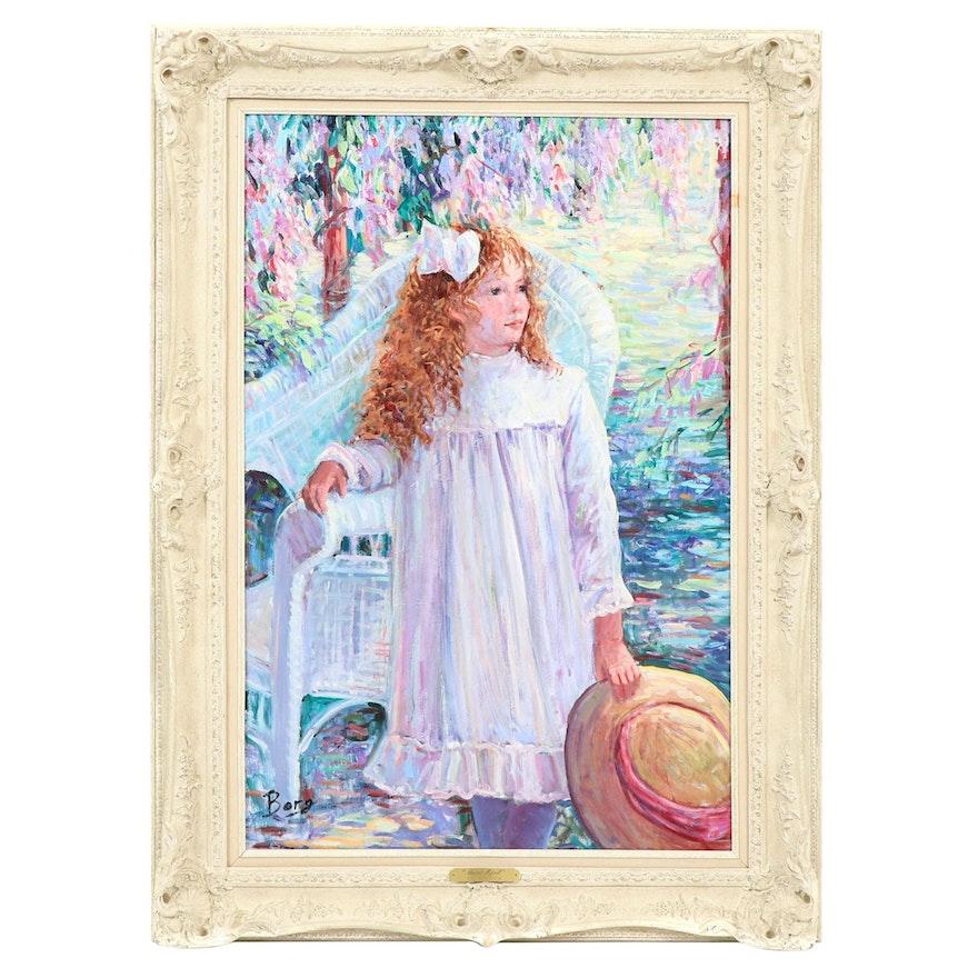 """Irene Borg Oil Painting """"Sweet April"""""""