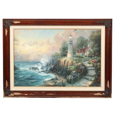 "Thomas Kinkade Embellished Offset Lithograph ""Seaside Memories III"""