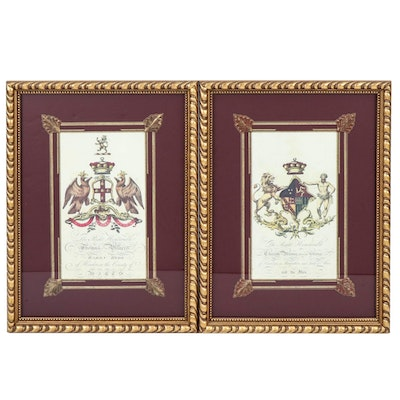 Coat of Arms Reproduction Lithographs