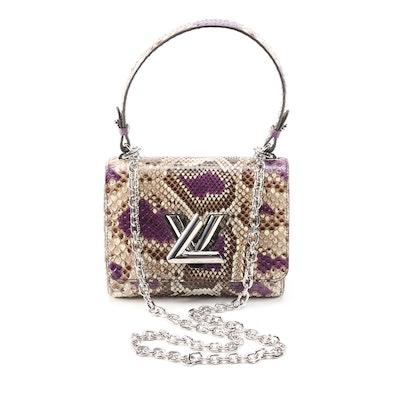 Louis Vuitton Twist PM in Multicolor Python Leather