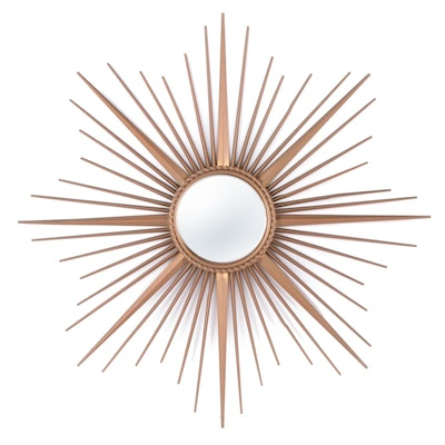 Chaty Vallauris Sunburst Fish Eye Wall Mirror, Mid to Late 20th Century