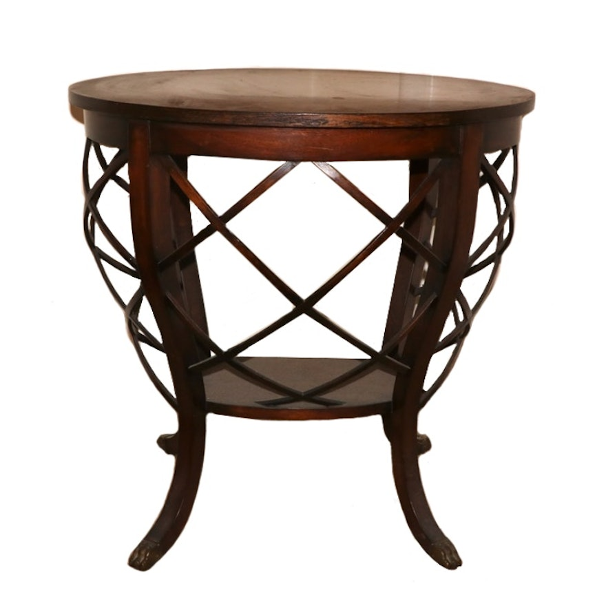 Classical Style Mahogany Two-Tier Side Table, 20th Century