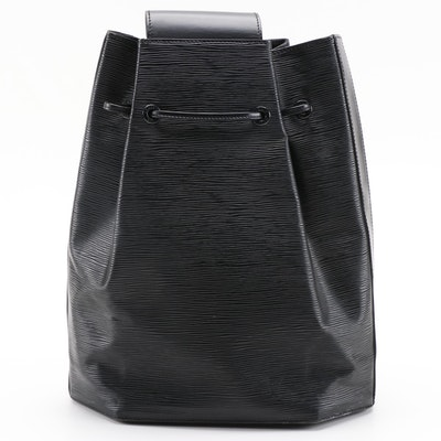 Louis Vuitton Sac a Dos Backpack Purse in Black Epi Leather
