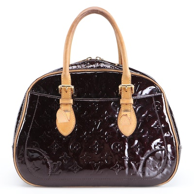 Louis Vuitton Summit Drive Handbag in Amarante Monogram Vernis