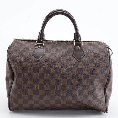 Louis Vuitton Speedy 30 in Damier Ebene Coated Canvas