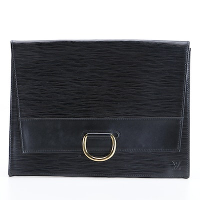Louis Vuitton Lena Clutch in Black Epi Leather