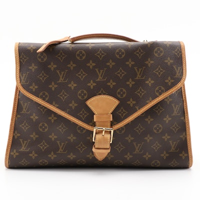 Louis Vuitton Beverly Briefcase MM in Monogram Coated Canvas