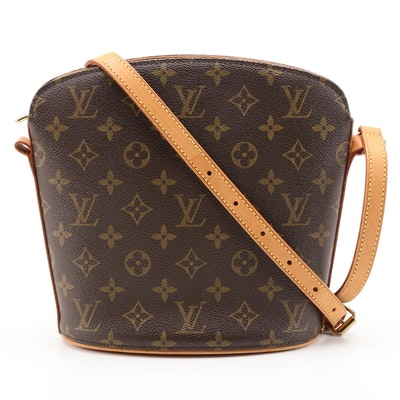 Louis Vuitton Drouot Bag in Monogram Canvas and Vachetta Leather