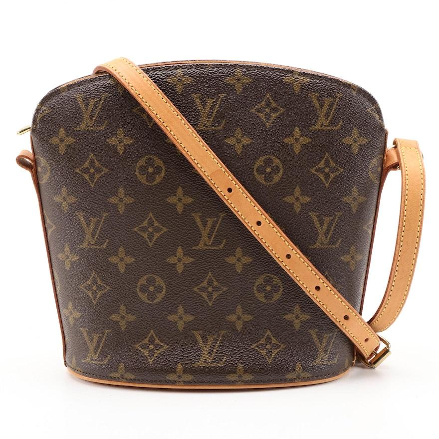 Louis Vuitton Drouot Bag in Monogram Canvas and Vachetta Leather