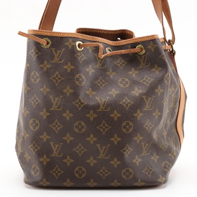 Louis Vuitton Petit Noé Shoulder Bag in Monogram Canvas and Vachetta Leather