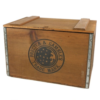 Proctor & Gamble Metal Bound Wooden Ivory Soap Crate