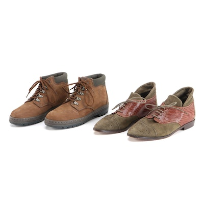 Vaneli Derby Walking Shoes and Timberland Hiking Boots