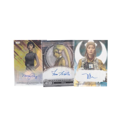 Veronica Ngo as Paige Tico and Other Autographed Star Wars Cards