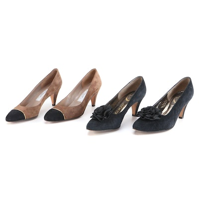 Delman and Rangoni Suede Pumps, Made in Italy