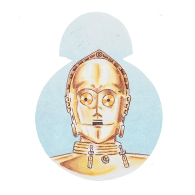 Star Wars C-3P0 Sketch Card Autographed by Artist Doug Snodgrass