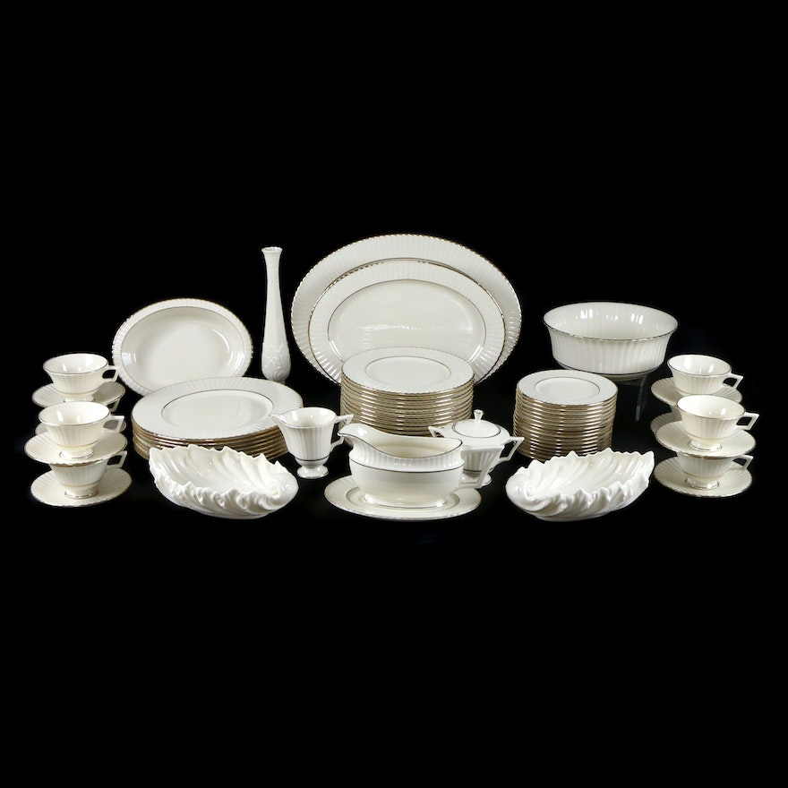 "Lenox ""Citation Gold"" Temple Collection Porcelain Dinnerware, 1991–2007"