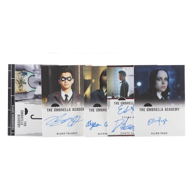 "Ellen Page and Other Autographed ""Umbrella Academy"" Trading Cards"
