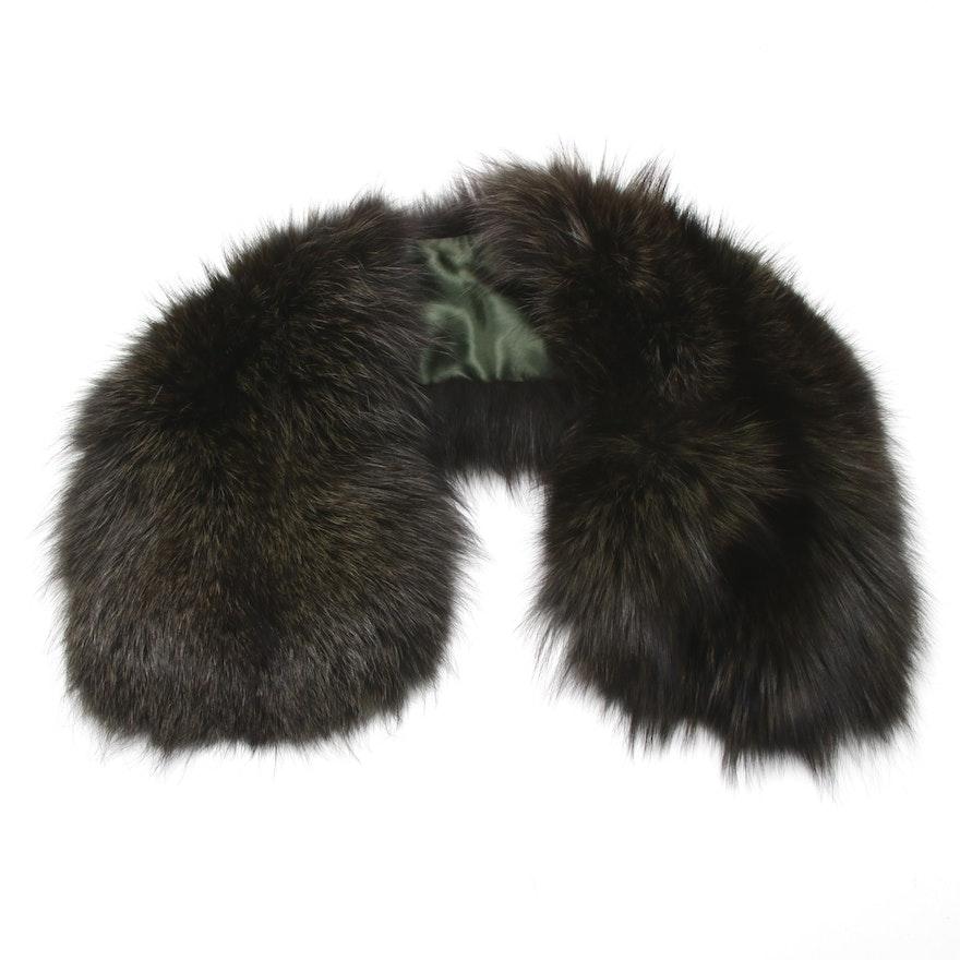 Armani Collezioni Dyed Fox Fur Collar, Made in Italy