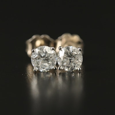 14K 0.92 CTW Diamond Stud Earrings