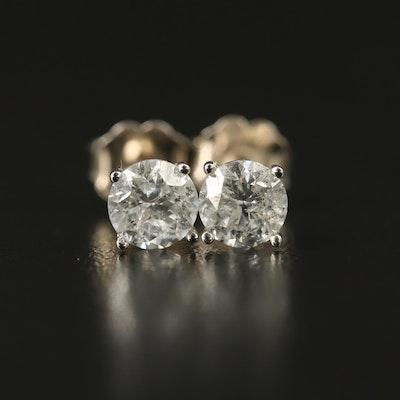 14K 0.92 CTW Diamond Stud Earrings