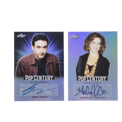 Pop Century John Cusack and Gabrielle Carteris Autographed Cards