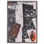 """Italo Scanga Lithograph """"Cubist"""", 1989"""
