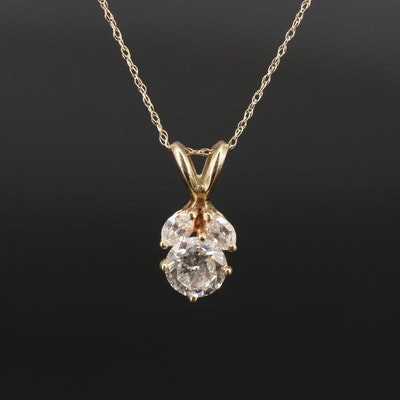 14K 1.17 CTW Diamond Necklace