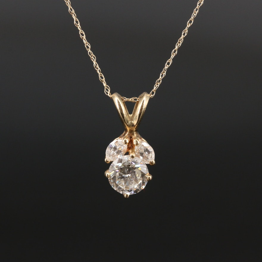 14K 1.17 CTW Diamond Necklace