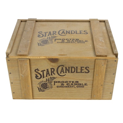 "Proctor & Gamble ""Star Candles"" Wooden Crate"