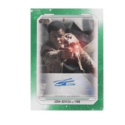 "John Boyega Autographed ""Star Wars"" Trading Card"