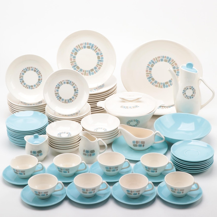 """Canonsburg Pottery Co. """"Temporama"""" Dinnerware and Coffee Set"""