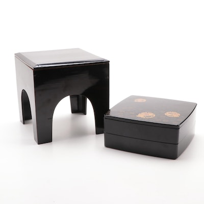 Japanese Lacquerware Boxes, Mid-20th Century
