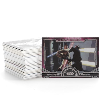 "Star Wars Episodes 1-3 and Clone Wars""Masterwork"" Trading Cards"